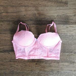 Victoria's Secret Dream Angels Demi Bra Pink 32B